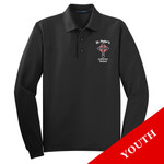 Y500LS - S234-E001 - EMB - Youth Long Sleeve Easy Care Polo
