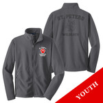 Y217 - S234-E002 - EMB - Youth Fleece Jacket with Laser Etch Back